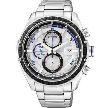 CITIZEN 光動能計時腕錶-銀 CA0120-51A