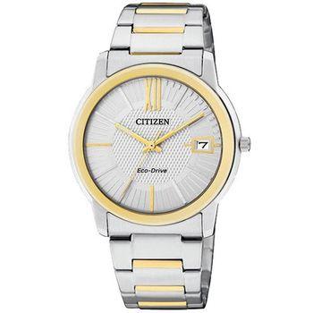 CITIZEN 時尚都會大三針腕錶-銀/雙色版FE6014-59A