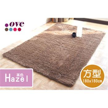 【OVE】 超細纖維地毯_茶色 (方型) (180x180cm)