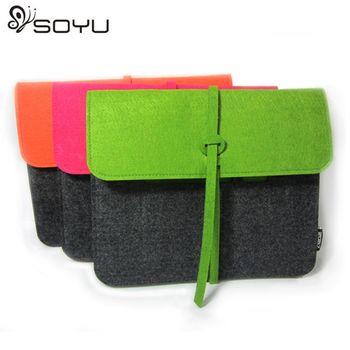 【SOYU】羊毛氈實用信封iPAD包(草綠色)
