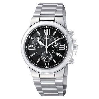 CITIZEN xC 戀愛光動能計時腕錶-黑 AT0650-50E