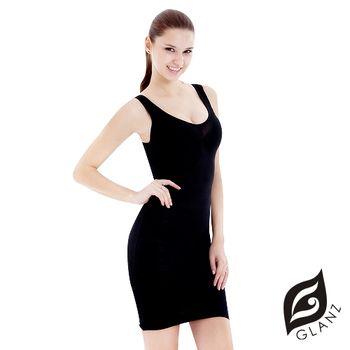 GLANZ 280丹曲線女王奈米級藍寶美型纖體雕塑衣(時尚黑)