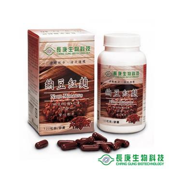 長庚生技 納豆紅麴(120粒/瓶)1入