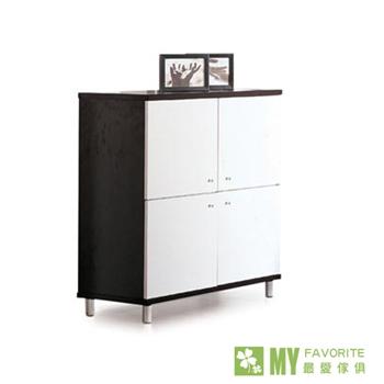 【最愛傢俱】北歐風情鐵刀木色收納櫃