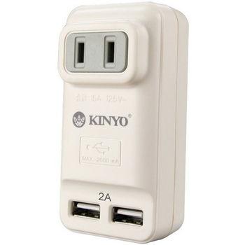 【KINYO】2P+2USB孔極速充電插座(UR-06)