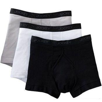 【Jockey】2013男創新黑灰白混搭四角內著3件組