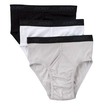 【Jockey】2013男創新黑灰白混搭三角內著3件組