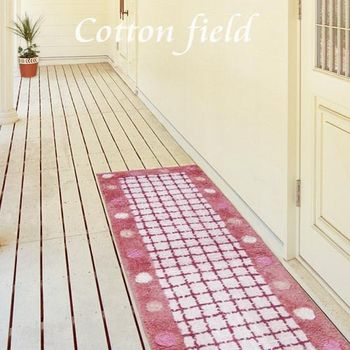 【棉花田】點點-粉紅純棉提花走道毯(45x135cm)