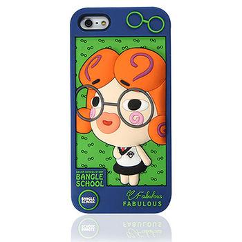 摩達客Fabulous-眼鏡Glala藍綠iPhone5矽膠護套
