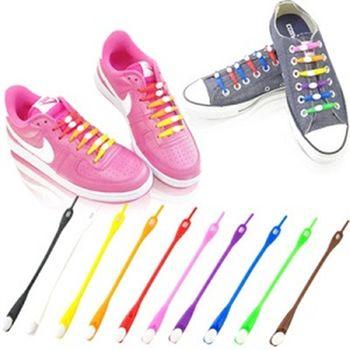 日韓風行時尚亮彩免綁安全鞋帶10盒超值組