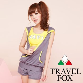 【Travel Fox夏之戀】休閒風四件式泳衣(C13715)