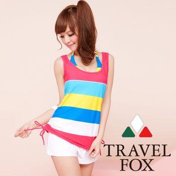 【Travel Fox夏之戀】新航海風四件式泳衣(C13714)
