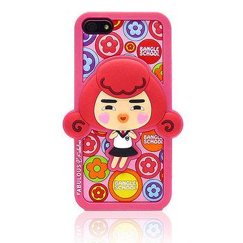 摩達客Fabulous-小花Yola粉紅 iPhone5矽膠護套