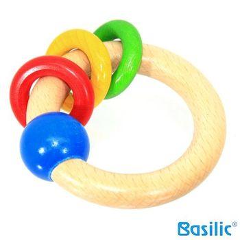 貝喜力克 木頭玩具-手搖環-任