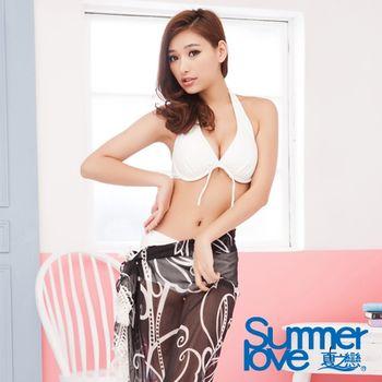 【夏之戀SUMMERLOVE】浪漫黑色沙龍外搭裙E13715-黑