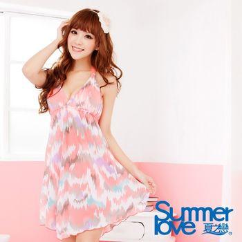 【夏之戀SUMMERLOVE】浪漫風情連身裙三件式泳衣E13735