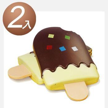 【2入組 】-仿真巧克力創意造型雪糕鏡梳組合