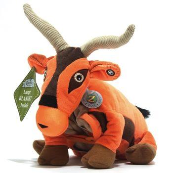 【Zoobies】毛毯寵物玩偶-羚羊