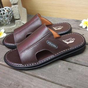【SHELOVES 喜樂絲】男性休閒氣墊拖鞋 咖色