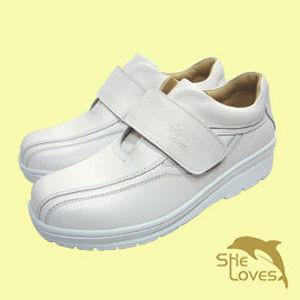 SHELOVES 喜樂絲 極簡品味舒適護士鞋-白色 2B132