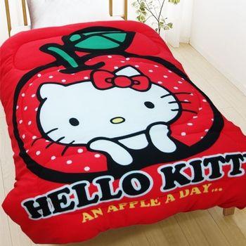 HELLO KITTY天天吃蘋果暖暖厚毯被