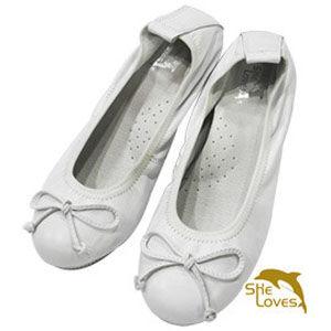 【SHELOVES 喜樂絲】娃娃鞋款護士鞋/休閒兩用白2B126