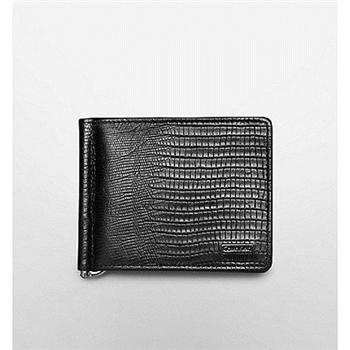 【CK】2013男經典蜥蜴紋理黑色皮夾