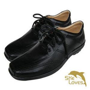 【SHELOVES 喜樂絲】活力舒適男士護士鞋-黑色 2T004
