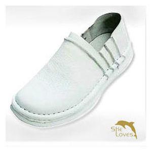 【SHELOVES 喜樂絲】男款休閒健康護士氣墊鞋 白 2T002