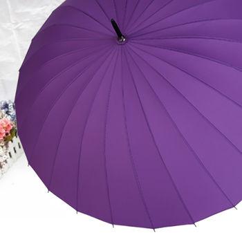 (超級風)24支傘骨耐用手開直傘
