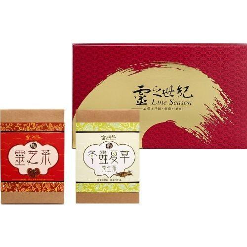 靈之世紀 如意禮盒x3盒(靈芝冬蟲+養生+極品牛蒡)