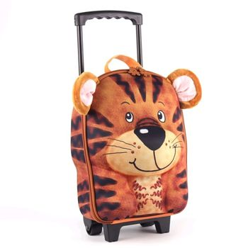 德國 okiedog 兒童3D動物造型系列-拉桿式行李箱(老虎)