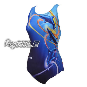 【NILE泳裝】女 運動款泳衣-NSA-2133W(藍色)