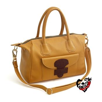 【CONTINUITA】真皮屋 真皮微笑口袋包 (3色)