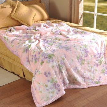 【格蘭】幸福花語超細柔雙層毛毯(單人140x200cm)
