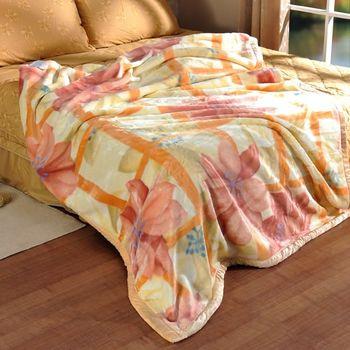 【格蘭】花舞漫飛超細柔雙層毛毯(單人140x200cm)