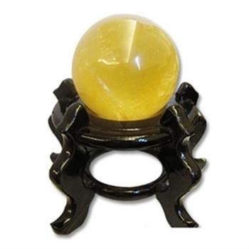 【天韻】圓滿黃冰晶球