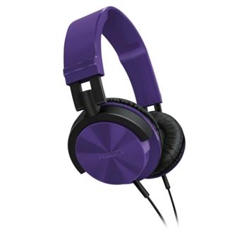 【PHILIPS飛利浦】SHL3000輕量頭戴式耳機(魔幻紫)