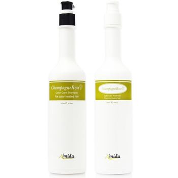 【Amida】-香檳玫瑰洗髮精 400ML+護髮素 400ML