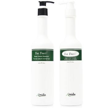 【Amida】-茶樹洗髮精400ml+茶樹有機護髮素 400ML