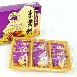 【皇家美食】柚香紫薯餅(270g/盒)