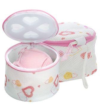 【促銷】日本AISEN心形印花內衣洗衣網(L+M)2入裝