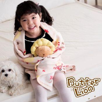 【奶油獅】搖滾星星搖粒絨保暖披肩毯(75X140cm)-3色