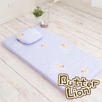 【奶油獅】馬來西亞100%乳膠嬰兒床墊(小)+圓枕超值組(3色)