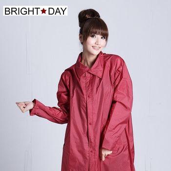 BrightDay風雨衣連身式 - 日系印花前開款