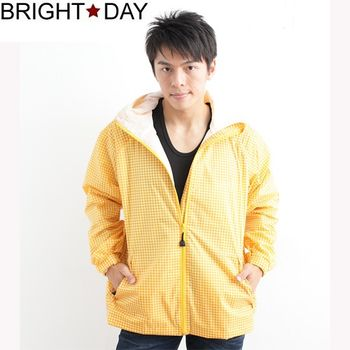 BrightDay風雨衣單件式 - 日系印花外套款