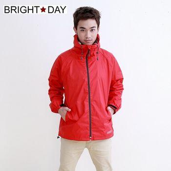 BrightDay風雨衣單件式 - 日系刷毛潮流款