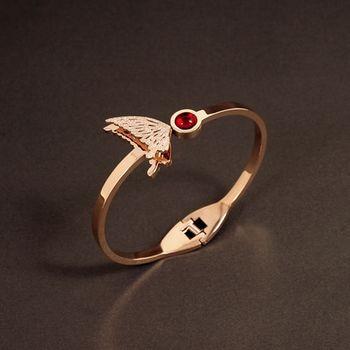 Sarlisi 彩蝶之吻時尚造型西德鋼手環