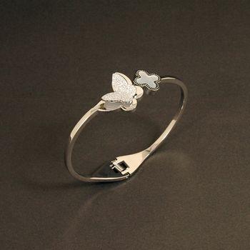 Sarlisi 螢蝶炫舞時尚造型西德鋼手環