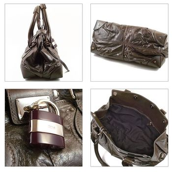 【CHLOE 】Paddington bag 經典全皮革鎖頭包.咖